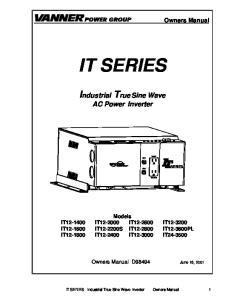 IT SERIES. Industrial True Sine Wave AC Power Inverter