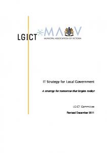 IT Strategy for Local Government