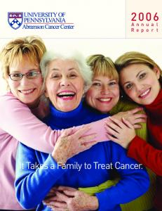 It Takes a Family to Treat Cancer