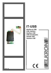 IT-USB Interfaccia USB USB interface Interface USB USB Schnittstelle Interfaz USB Interface USB