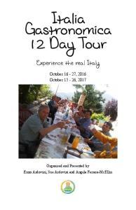 Italia Gastronomica 12 Day Tour