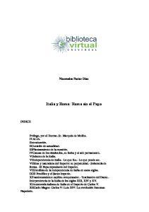Italia y Roma: Roma sin el Papa
