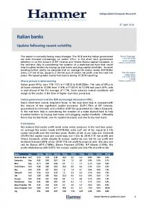 Italian banks. Update following recent volatility. Equity Research