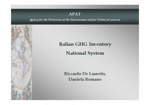 Italian GHG Inventory National System