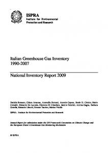 Italian Greenhouse Gas Inventory