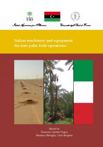 Italian machinery and equipment for date palm field operations