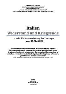 Italien Widerstand und Kriegsende