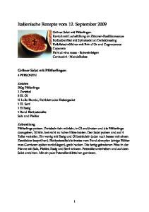 Italienische Rezepte vom 12. September 2009