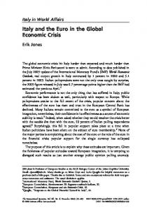 Italy and the Euro in the Global Economic Crisis