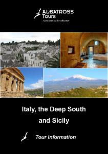 Italy, the Deep South and Sicily