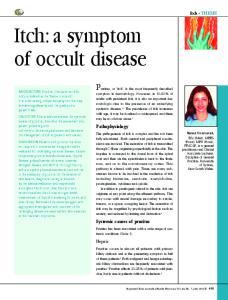 Itch: a symptom of occult disease