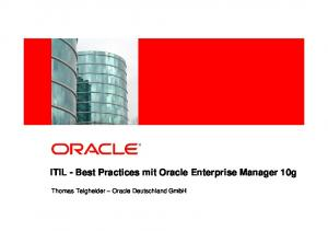 ITIL - Best Practices mit Oracle Enterprise Manager 10g