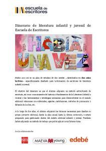 Itinerario de literatura infantil y juvenil de Escuela de Escritores