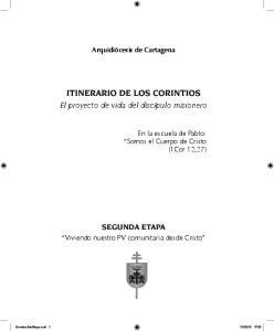 ITINERARIO DE LOS CORINTIOS