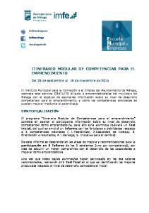 ITINERARIO MODULAR DE COMPETENCIAS PARA EL EMPRENDIMIENTO