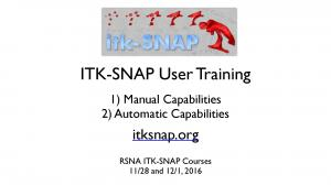 ITK-SNAP User Training