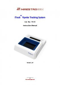 itrack Pipette Tracking System