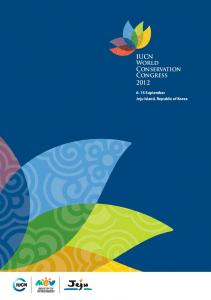 IUCN World Conservation Congress September Jeju Island, Republic of Korea
