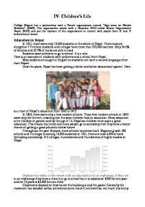 IV- Children s Life Education in Nepal