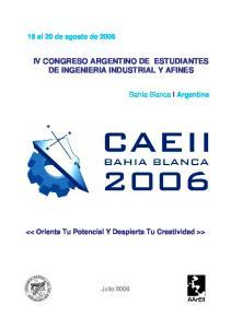 IV CONGRESO ARGENTINO DE ESTUDIANTES DE INGENIERIA INDUSTRIAL Y AFINES