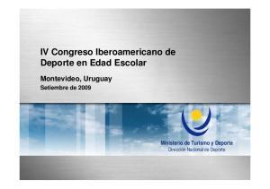 IV Congreso Iberoamericano de Deporte en Edad Escolar