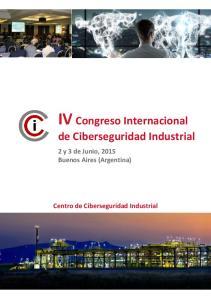 IV Congreso Internacional de Ciberseguridad Industrial
