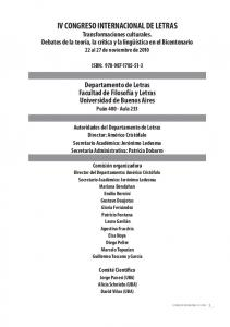 IV CONGRESO INTERNACIONAL DE LETRAS