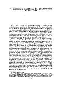 IV CONGRESO NACIONAL DE COMUNIDADES DE REGANTES