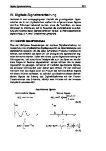 IV. Digitale Signalverarbeitung