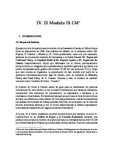 IV. El Modelo IS LM *
