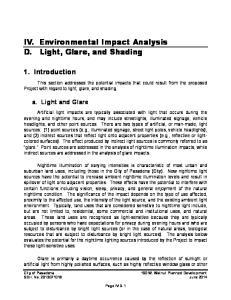 IV. Environmental Impact Analysis D. Light, Glare, and Shading