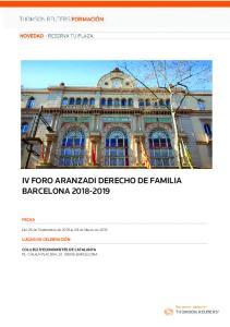 IV FORO ARANZADI DERECHO DE FAMILIA BARCELONA