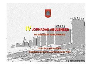 IV JORNADAS ABULENSES