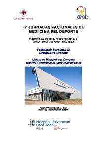 IV JORNADAS NACIONALES DE MEDICINA DEL DEPORTE