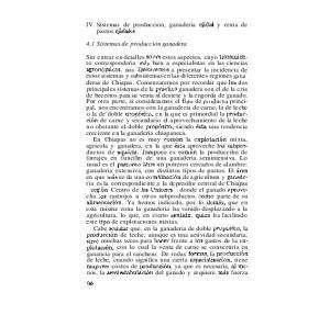 IV. Sistemas de produccion, ganaderia ejidal y renta de pastos ejidales. 4.1 Sistemas de produccion ganadera
