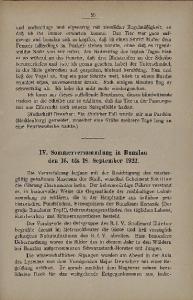 IV. Sommerversammlung in Bunzlau den 16. bis IS, September 1922