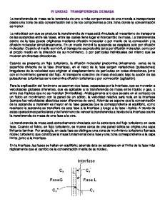 IV UNIDAD TRANSFERENCIA DE MASA