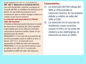 IVA en la Reforma Comentarios. Tributaria 2012