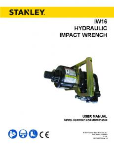 IW16 HYDRAULIC IMPACT WRENCH