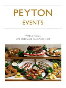 IWM LONDON DAY DELEGATE PACKAGES 2015
