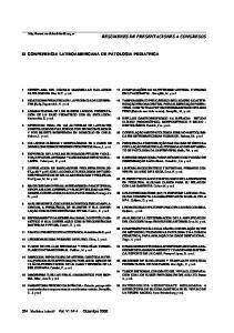 IX CONFERENCIA LATINOAMERICANA DE PATOLOGIA PEDIATRICA