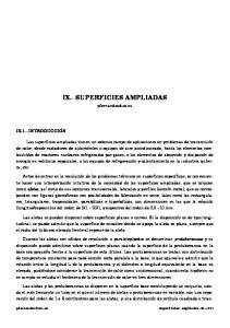 IX.- SUPERFICIES AMPLIADAS