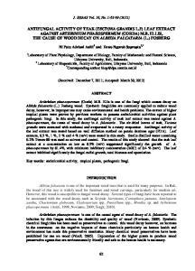 J. ISSAAS Vol. 18, No. 1:62-69 (2012)