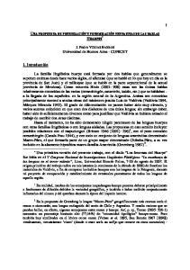 J. Pedro VIEGAS BARROS Universidad de Buenos Aires - CONICET