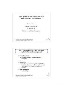 J2EE Design in UML using RUP and Agile Software Development