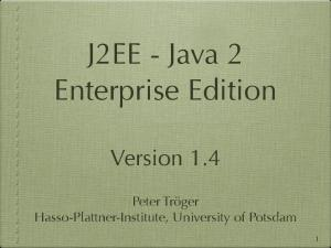 J2EE - Java 2 Enterprise Edition