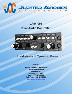 JA Dual Audio Controller