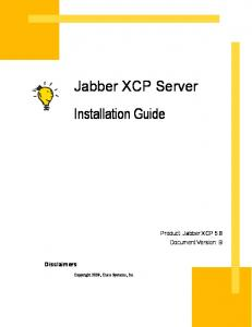 Jabber XCP Server Installation Guide
