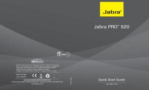 Jabra PRO 920. Quick Start Guide