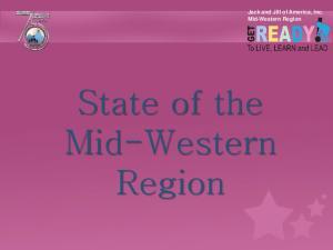 Jack and Jill of America, Inc. Mid-Western Region. State of the Mid-Western Region